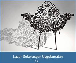 lazer dekorasyon uygulamalar - endüstriyel tasarımlar